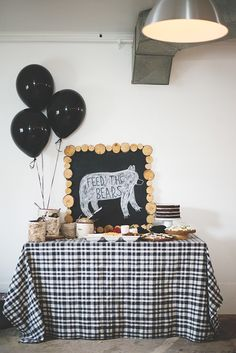 Modern Bear Theme Birthday Party