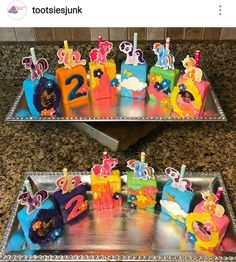 My Little Pony Birthday Inspired Rice Krispy Treats Rice Crispy Treats, Krispie Treats, Rice Krispies, Unicorn Birthday, 4th Birthday, Birthday Ideas, My Little Pony Birthday, My Little Pony Party, Tea Party