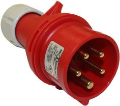 #airconditioners  This #Interpower 84151303 International Electrotechnical Commission (IEC) 60309 red, four-pole, high-power plug has five contacts, a six-hour (...
