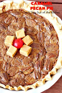 Caramel Pecan Pie – Can't Stay Out of the Kitchen Caramel Pecan Pie, Chocolate Chess Pie, Derby Pie, Homemade Pie Crusts, Holiday Dinner, Dessert Bars, Pie Recipes, Food Print, Holiday Recipes