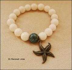 Pulsera estrella de mar. https://www.facebook.com/esrac0netjoies