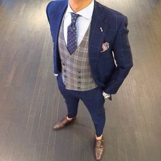 #menswear #menstyle #suit #checkered #plaid #vest