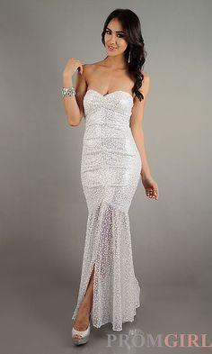 Strapless Sweetheat Long Sequin Dress