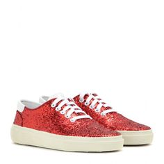 Saint Laurent - Glitter embellished sneakers - These glitter embellished sneakers from Saint Laurent will uplift the simplest of looks. - @ www.mytheresa.com