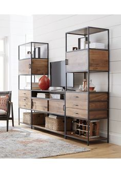 Knox Tall Storage Bookcase | Crate and Barrel
