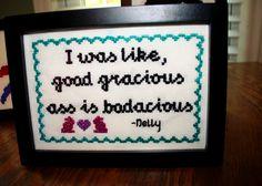 nelly by allyapple, via Flickr cross stitch rap