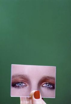 Guy Bourdin // Eyes. ***I'm not a fan of the make up, at all--yuck! ): But, the concept's good..