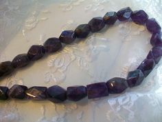 Rare  Large Natural Amethyst Faceted Nugget by TheEiffelTeaRoom
