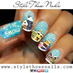 Style Those Nails: Let it Snow : Snow Fall Nailart (Video Tutorial)