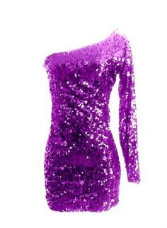 Purple Sequin One Sleeve Sparkle Glitter Party Dress,  Dress, Sequin long sleeve dress  sequence dress, Chic