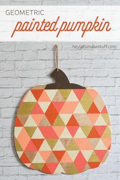 This geometric pumpk