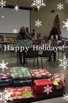 Tis the season for giving! Thanks to our employees for wrapping gifts to help some local families in need.