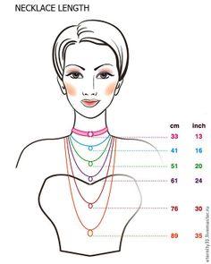 Necklace Length ❥ 4U hilariafina  http://www.pinterest.com/hilariafina/