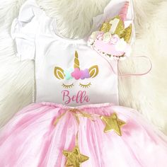 First Birthday Unicorn Outfit. Shirt and crown by Pink Sugar Shoppe. - Unicorn Party - Unicorn Birthday - Unicorn Outfit - Unicorn Leotard