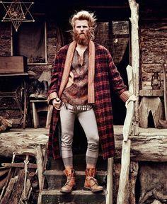 I love a man in long underwear.  Steffen Norgaard for How To Spend It by Diego Merino