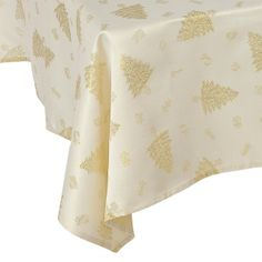 Gold Christmas Tree Tablecloths --- Quick Info: Price £12.00 Our stunningly Christmas inspired table cloth is guaranteed to inject that special Christmas feeling into your table. --- Available from Roman at Home. Images Copyright www.romanathome.com