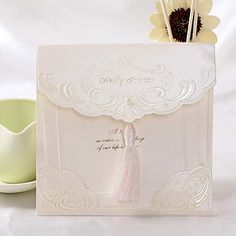 Vintage Wedding Invitation With Tassel (Set of 50) – USD $ 69.99