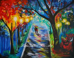 """Couple Painting, Couple in Love,Couple, Couples,Romantic, """"Together"""" By Leslie Allen """"EnjoyTheView"""""""