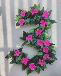 Large Floral Moana Inspired Numbers, perfect for a birthday party Aloha Party, Moana Birthday Party, Hawaiian Birthday, Moana Party, Luau Birthday, Third Birthday, Luau Party, 3rd Birthday Parties, Birthday Party Decorations