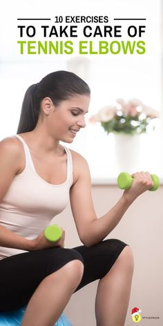 To Take Care Of Tennis Elbows: Tennis elbow is caused due to the overuse of muscles in your arm. Here are a few tennis elbow exercises that will help you relieve the pain Tennis Elbow Exercises, Stretching Exercises, Stretches, Forearm Workout At Home, Tennis Arm, Physical Therapy Exercises, Elbow Pain, Tennis Workout, Gym Girls