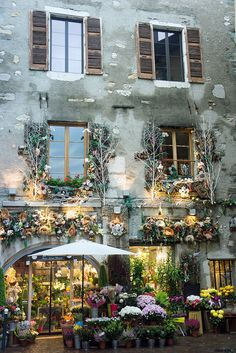 ♔ Flower Shop in Old House - Annecy, France by BlueVoter