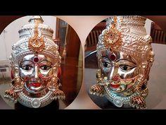 Varamahalakshmi Idol Decoration | Varamahalakshmi Face Decoration - YouTube
