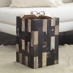 Petrified Wood Side Table U2013 Noir   NEW