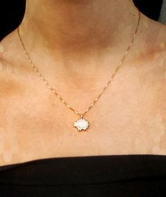 Adorable tiny sheep charm necklace by Nanostyle jewelry. Awesome amazon.com find. #sofluffyicoulddie!