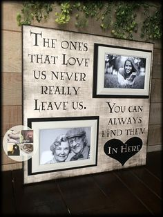 Items similar to Bereavement Gifts Photo Frames With Quotes, Wood Picture Frames, Condolence Gift, Sympathy Gifts, Memorial Ornaments, Memorial Gifts, Memorial Ideas, In Memory Of Dad, In Memory Gifts