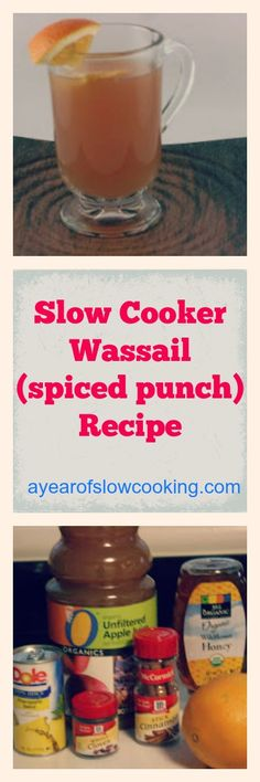Wassail is a fantastic non-alcoholic spiced punch you can make during the holidays. Fill your crockpot up with Apple Cider, pineapple juice, some honey, fresh orange, and mulling spices to make a delicious, warm, hearty drink the whole family can enjoy!