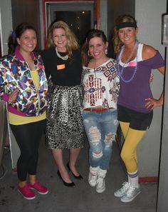 fabulous costumes of the ~ SK UNLV; 80s Party Costumes, 80s Halloween Costumes, 80s Party Outfits, 80s Outfit, Retro Costume, Cute Costumes, Throwback Thursday Outfits, Geek Chic Outfits, 80s Trends