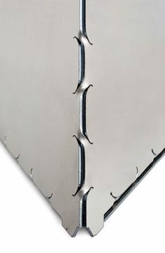 Patented metalsheet manual and waterproof laser cut bending technic. By Industrial Origami, U.S based company