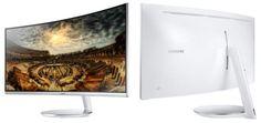 Изогнутый монитор Samsung C34F791 обладает разрешением 34401440 точек