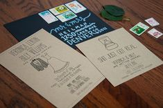Custom Wedding Invitation Suite DEPOSIT - Personalized, Printable, DIY, Rustic, Kraft Paper, Drawn, Handmade, Funny (Wedding Design #20)