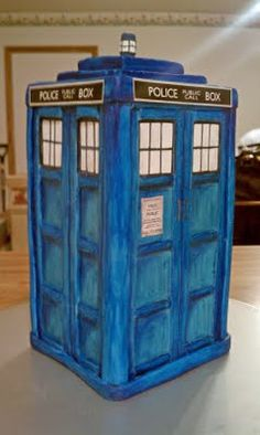 The Groom requested a Tardis Cake for the grooms cake,  Now to find someone in Long Island to make it for the wedding!