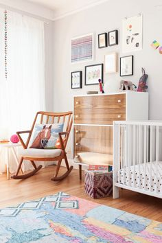 The nursery of Janette Crawford, founder of Sun + Dotter, personal shopping & styling for design-conscious parents