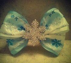 Frozen Inspired Elsa Hair Bow by BlueBugRain on Etsy, $8.00