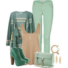 """""""Mint Chocolate Chip"""" by angelysty on Polyvore"""