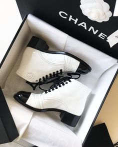 Chanel Source by alyssabyssa shoes Buy Shoes, Me Too Shoes, Women's Shoes Sandals, Shoe Boots, Shoes Sneakers, Flat Shoes, Chanel Boots, Chanel Shoes Flats, Chanel Chanel