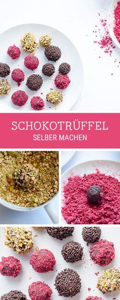 Süßes Rezept für selbstgemachte Trüffel aus Schokolade / recipe for homemade chocolate truffles via DaWanda.com