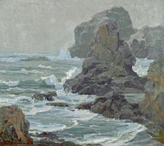Jack Wilkinson Smith (American, 1873-1949) Rocky coast 24 1/4 x 30 1/2in overall: 32 1/2 x 38 1/2in (Painted in 1925)