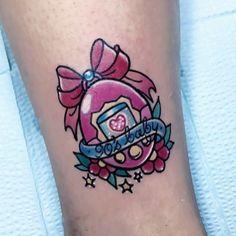 Tamagotchi tattoo by at in Australia. Est Tattoos, Anime Tattoos, Tatoos, La Tattoo, Get A Tattoo, Badass Tattoos, Love Tattoos, Piercing Tattoo, Piercings