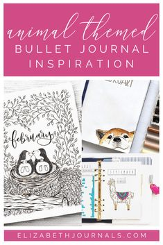 20+ Animal-Themed Layouts That Will Blow Your Mind  Most people love animals. So, whether you are a cat person, dog person, or neither, here are 20+ animal-themed bullet journal layouts to inspire you! Bullet Journal Layout, Bullet Journal Inspiration, Bullet Journals, Art Pages, Cover Pages, Bujo, How To Use Planner, Owl Quotes, Create An Animal