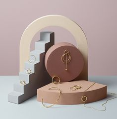 Jewellery Still Life Campaign for Beller. Inspired by architectural forms in nude pastel colour palette. Jewelry Packaging, Jewelry Branding, Photo Jewelry, Fashion Jewelry, 3d Laser, Jewelry Photography, Life Photography, Jewelry Stand, Jewellery Display