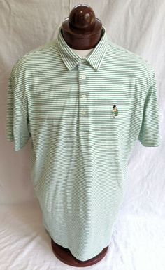 Ralph Lauren Mens Slim Fit Shirt Green White Checked XL//TG Genuine