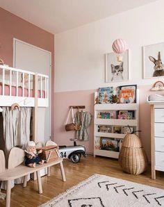 Big Girl Bedrooms, Little Girl Rooms, Girls Bedroom, Bedroom Decor, Bedroom Furniture, Baby Furniture, Cheap Furniture, Half Painted Walls, Ideas Habitaciones