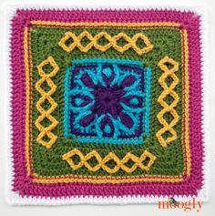 Block #17 in the Moogly 2015 Afghan Crochet-Along!