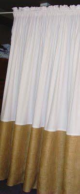 Burlap and white cotton drape...
