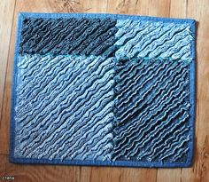 Cool recycled jeans into a floor rug.