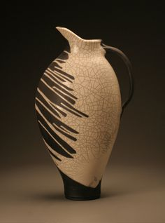 Joe Winter Pottery:   Saw this glaze technique in the studio. Love it.